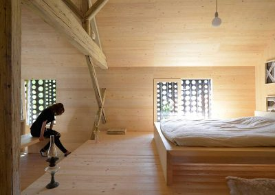 Barn Conversion Alpine Themed Bedroom.