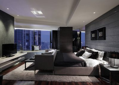 Bedroom Design In Texture Grey.