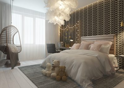 Daughter's Elegant Bedroom Design.