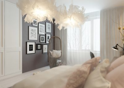 Daughters' Elegant Bedroom Design, View 2.