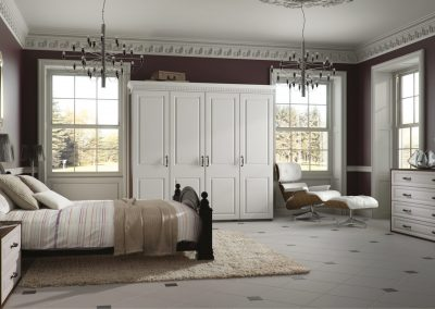 Satin White Double Panel Suite.