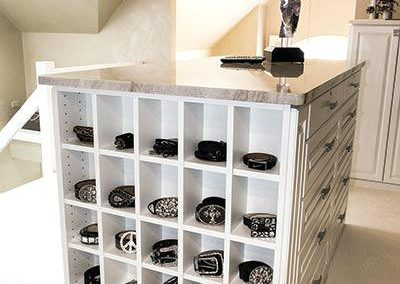Bespoke Bedroom Island Storage.