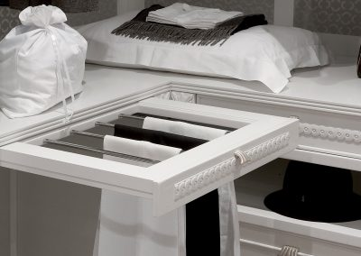 Bespoke Painted Towel Storage.