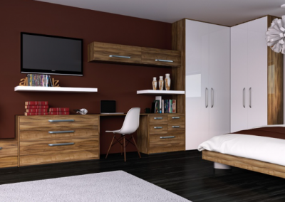 Contemporary Gloss & Grain Bedroom.