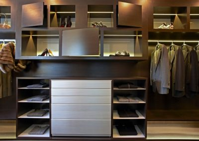 His & Her Bedroom Storage.