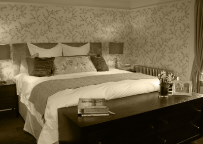 Master Bedroom & Branched Wallpaper.