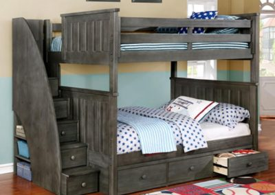 Painted Bunk With Storage.