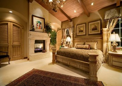 Rustic Bohemian Master Bedroom Design.
