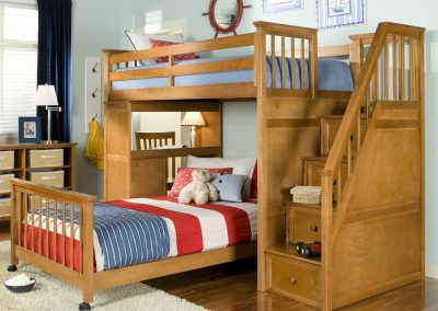 Timber Bunk & Storage Design For The Kids.