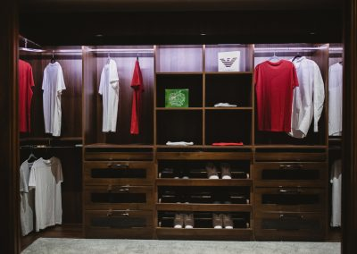 Timber Clothing Storage Design.