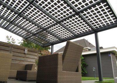 Rattan Under Solar Canopy.