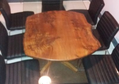 Burr Elm Table Under Glass.