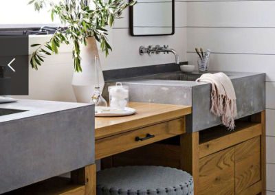 Concrete Sink Design For The Bathroom.