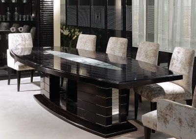 Contemporary Ebony Dining Table.