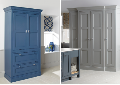 Inframe Painted Navy dresser & Storage In Light Grey.