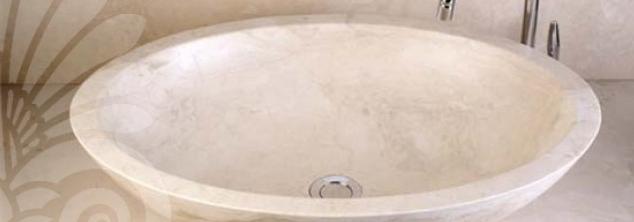 Ivory Stone Wash Hand Basin.