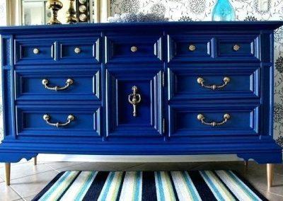 Vintage Blue Dresser.