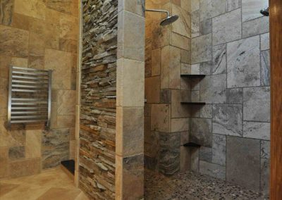 Wet Room In Stone Tile.