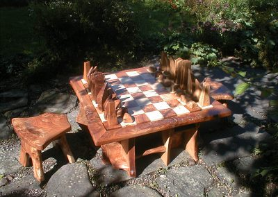 Chess Set Commission Piece & Seating.
