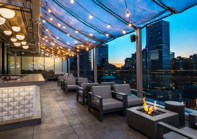 City Roof Top Bar Design.
