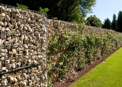Natural Stone Wall Gabions For Gardens & Commercial Solutions.