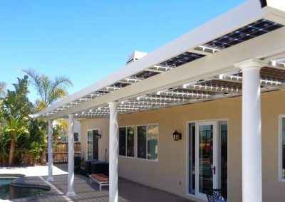 Holiday Villa Solar Canopy.