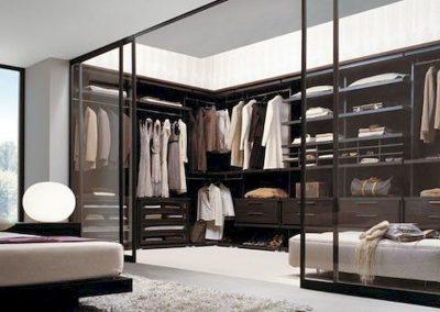 Complete Glazed Closet.