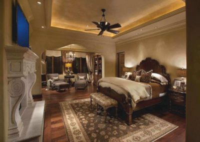 Large Master Bedroom French Country Style.