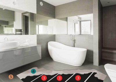 Installation Materials Bathroom.