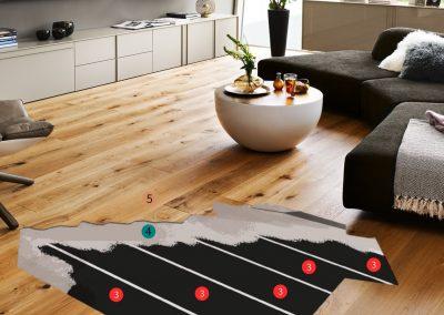 Installation Materials Floor Heating.