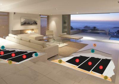 Installation Materials Living Area.