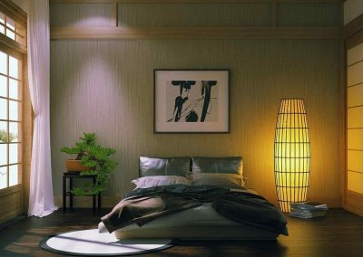 Japanese Atmos Bedroom Styling.