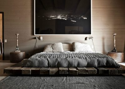 Japanese Bed On Timber Design.