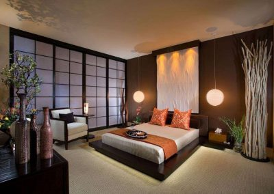 Japanese Bedroom Styling.