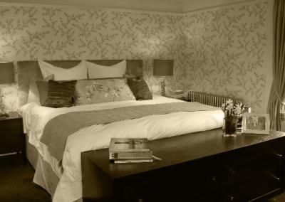 Master Bedroom & Branched Wallpaper.