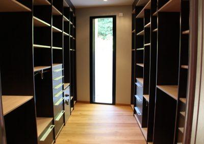 Open Dressing Shelved Storage in Black.
