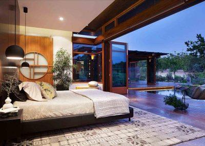 Orient Bedroom Design To Patio.