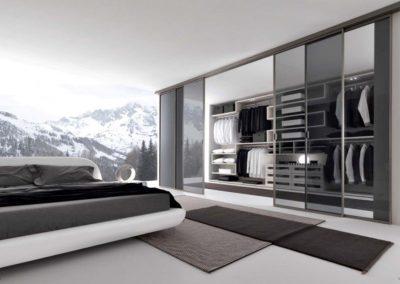 Glass Front Viewing Bedroom, Sliding Door & Tinted Closet Doors.