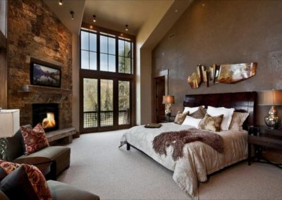Stone Timber & Rustic Finishing In The Bedroom.