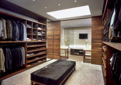 Walnut Dressing Room Design.