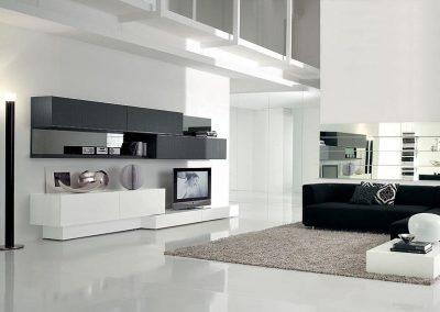 White & Black Floating Cabinet & Interior Finishing.