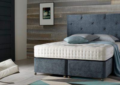 Blue Grey Bed.