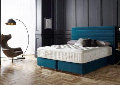 Dark Musk Blue Bed.