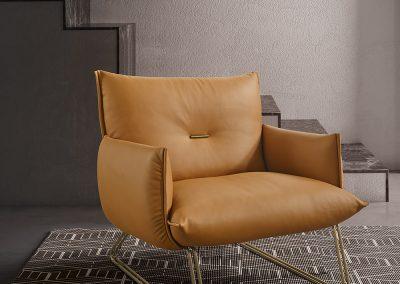 G Pillow Chair In Light Tan.