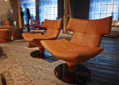G Swivel Chair Duet In Tan.