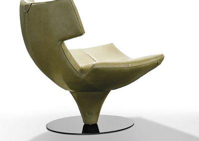 G Swivel Chair In Moss.