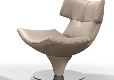 G Swivel Chair In Musk.
