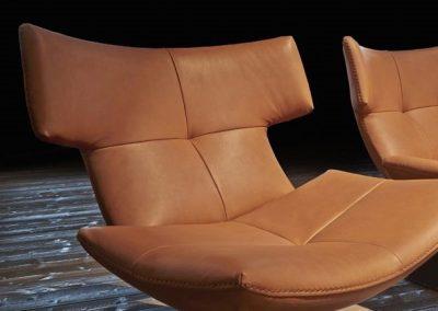 G Swivel Chair in Tan.