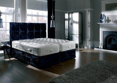 Royal Blue Bed.