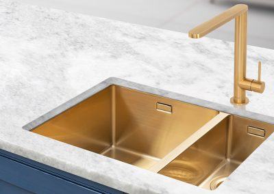 Sink & Tap Design In Gold.